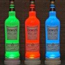 Dewars White Label Scotch Remote Control Color Change LED Bottle Lamp Bar Light