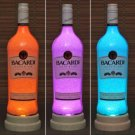 Bacardi Rum Color Changing Remote Control LED Liquor Bottle Lamp Bar Light Pub