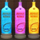 Absolut Vodka Mango Remote Controlled Color Changing led Bottle Lamp Bar Light