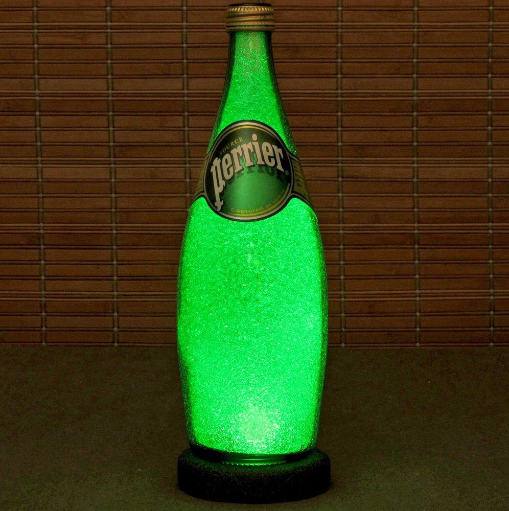 Perrier Spring Water Bottle Lamp 750ml LED Night Light Bar Home Decor Kitchen
