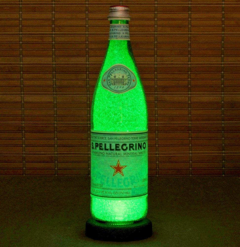 San Pellegrino Italian Mineral Water 24oz LED Bottle Lamp Light Bar Decor Italy
