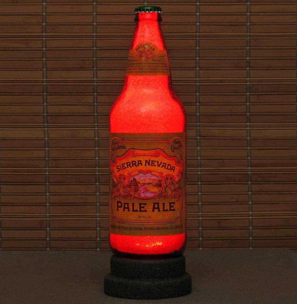 Sierra Nevada Pale Ale Beer 24 oz LED Beer Bottle Lamp Night Light Bar Man Cave