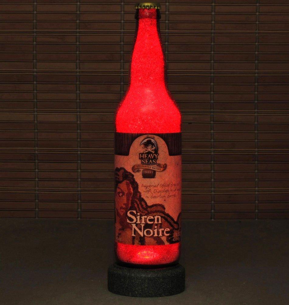 Heavy Seas Siren Noire Chocolate Beer LED Bottle Lamp Night Light Bar Man Cave