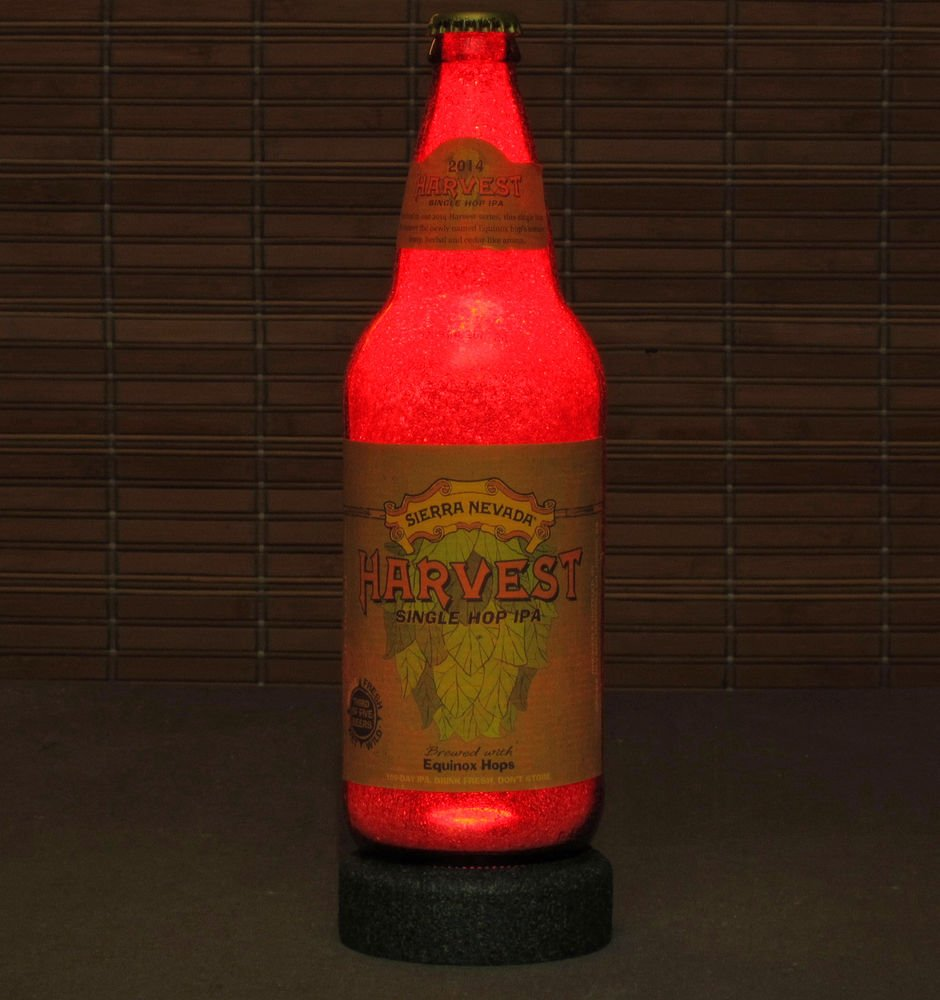Sierra Nevada Harvest IPA LED Beer Bottle Lamp Night Light Bar Man Cave Pub