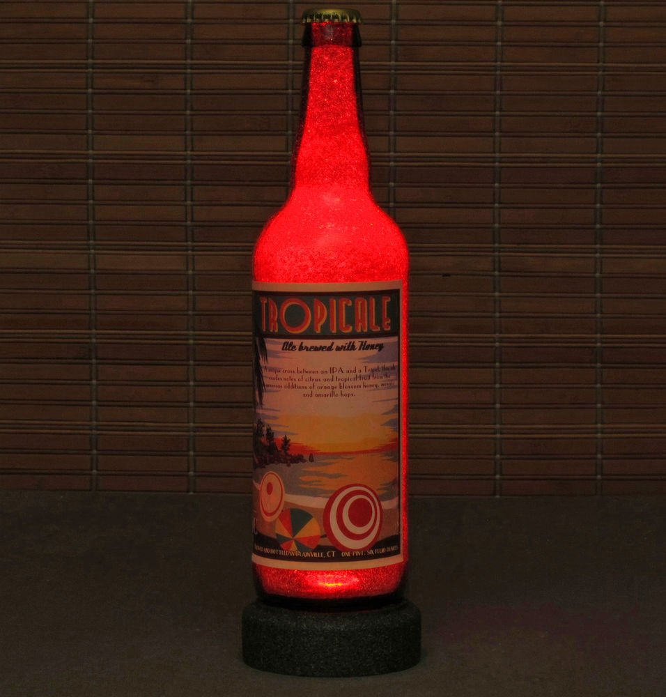 Tropicale Honey Relic Brewing LED Beer Bottle Lamp Night Light Bar Man Cave Pub