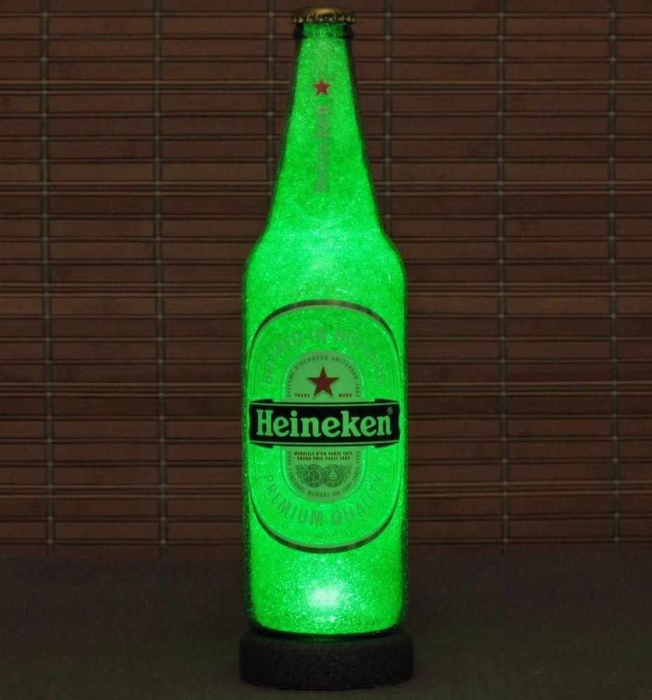 Heineken 24oz LED Beer Bottle Lamp Light Bar Sign Man Cave Lighting Pub