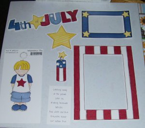 4th of July Boy-MMI-Retired HTF-Scrapbook set