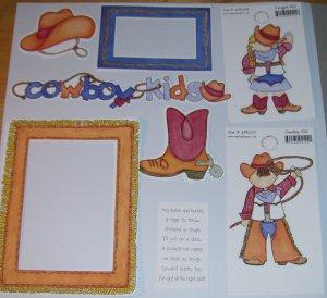Cowboy Kids 2-MMI-Retired HTF-Scrapbook set