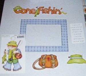 Gone Fishing-MMI-Retired HTF-Scrapbook set