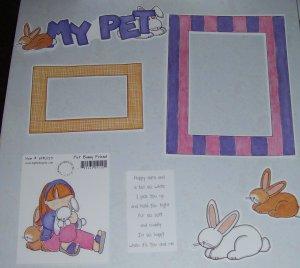My Pet Rabbit-MMI-Retired HTF-Scrapbook set