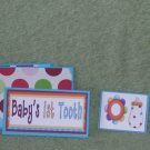 Baby's lst Tooth-Boy-5pc Mat Set