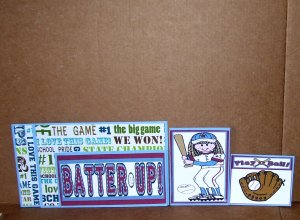 Batter Up Girl-5pc Mat Set