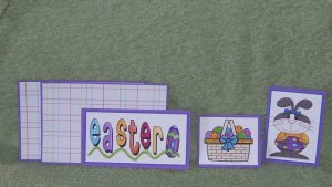 Easter-5pc Mat Set