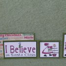 I Believe In Santa-5pc Mat Set