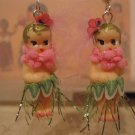 Hula Girl Kewpie Doll Earrings