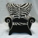 Diva Chair Jewelry Box - Zebra