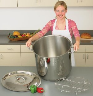 KTSP65 - Precise Heat 65qt 9Element Surgical Stainless Steel Stock Pot.