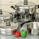 "KTWC10 - HealthSmart 10pc 9Element ""Waterless"" Cookware Set with Thermo Control Knobs"