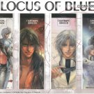 Locus of Blue Set of 4 Clear bookmarks