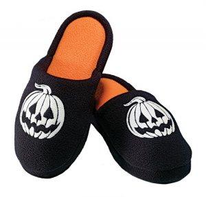 Medium (7-8): Haunted Halloween Slippers - Avon