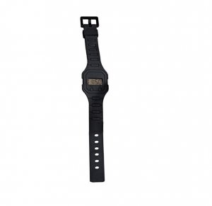 Black Digital Rubber Strap Watch - Avon