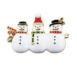 Holiday Motif Snowman Pin - Avon