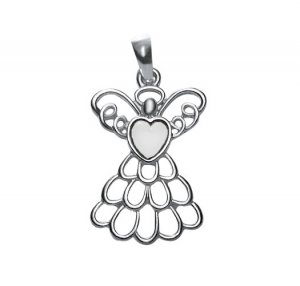 April Birthstone Angel Necklace (Diamond) - Avon