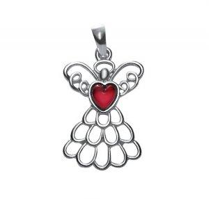 July Birthstone Angel Necklace (Ruby) - Avon