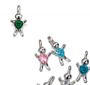 May CZ Birthstone Baby Hugs Charms - Avon