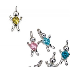 November CZ Birthstone Baby Hugs Charms - Avon