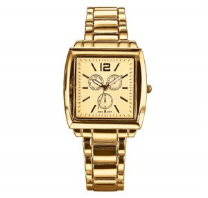 Goldtone Square-Faced Bracelet Watch - Avon
