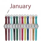 January Pavé Bezel Birthstone Watch - Avon
