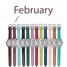 February Pavé Bezel Birthstone Watch - Avon