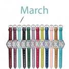 March Pavé Bezel Birthstone Watch - Avon