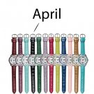 April Pavé Bezel Birthstone Watch - Avon