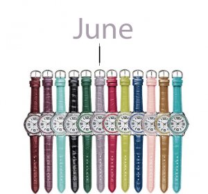 June Pavé Bezel Birthstone Watch - Avon