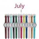 July Pavé Bezel Birthstone Watch - Avon