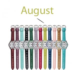 August Pavé Bezel Birthstone Watch - Avon