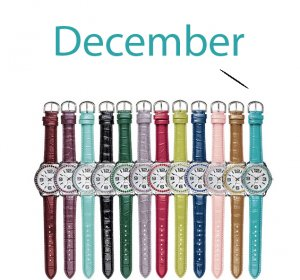 December Pavé Bezel Birthstone Watch - Avon
