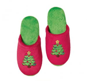 Large (9-10): Light-Up Holiday Slippers - Avon
