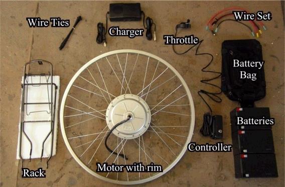 Electric bike bicycle hub motor kit, 36 volt,  600 watt, brushed, brand new.