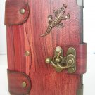 Mini Leather Bound Authentic Handmade Blank Journal Notebook With Lizard Emblem