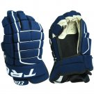 "Elite Series Tron Hockey Gloves Size 14"" (NAVY)"