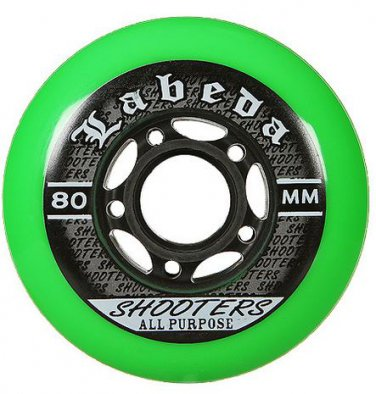 Labeda Shooter Multi Surface Hockey Wheels HiLo Set 4-76mm 4-80mm 78A