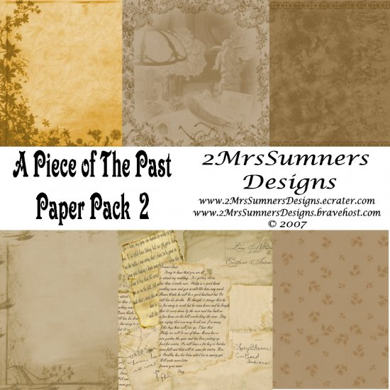 A Piece of the Past Paper Pack 2