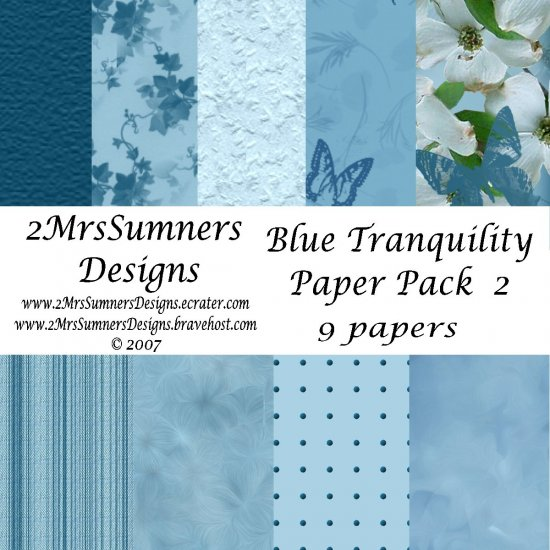 Blue Tranquility Paper Pack 2