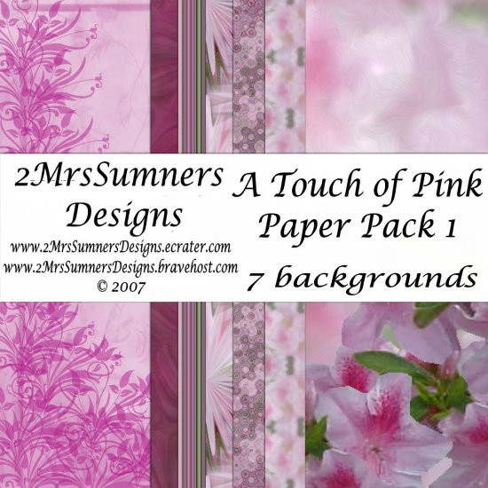 A Touch of Pink Paper Pack 1