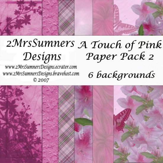 A Touch of Pink Paper Pack 2