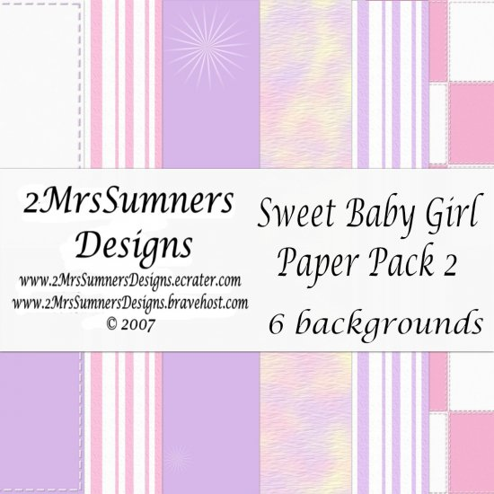 Sweet Baby Girl Paper Pack 2