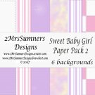 Sweet Baby Girl Paper Pack 2